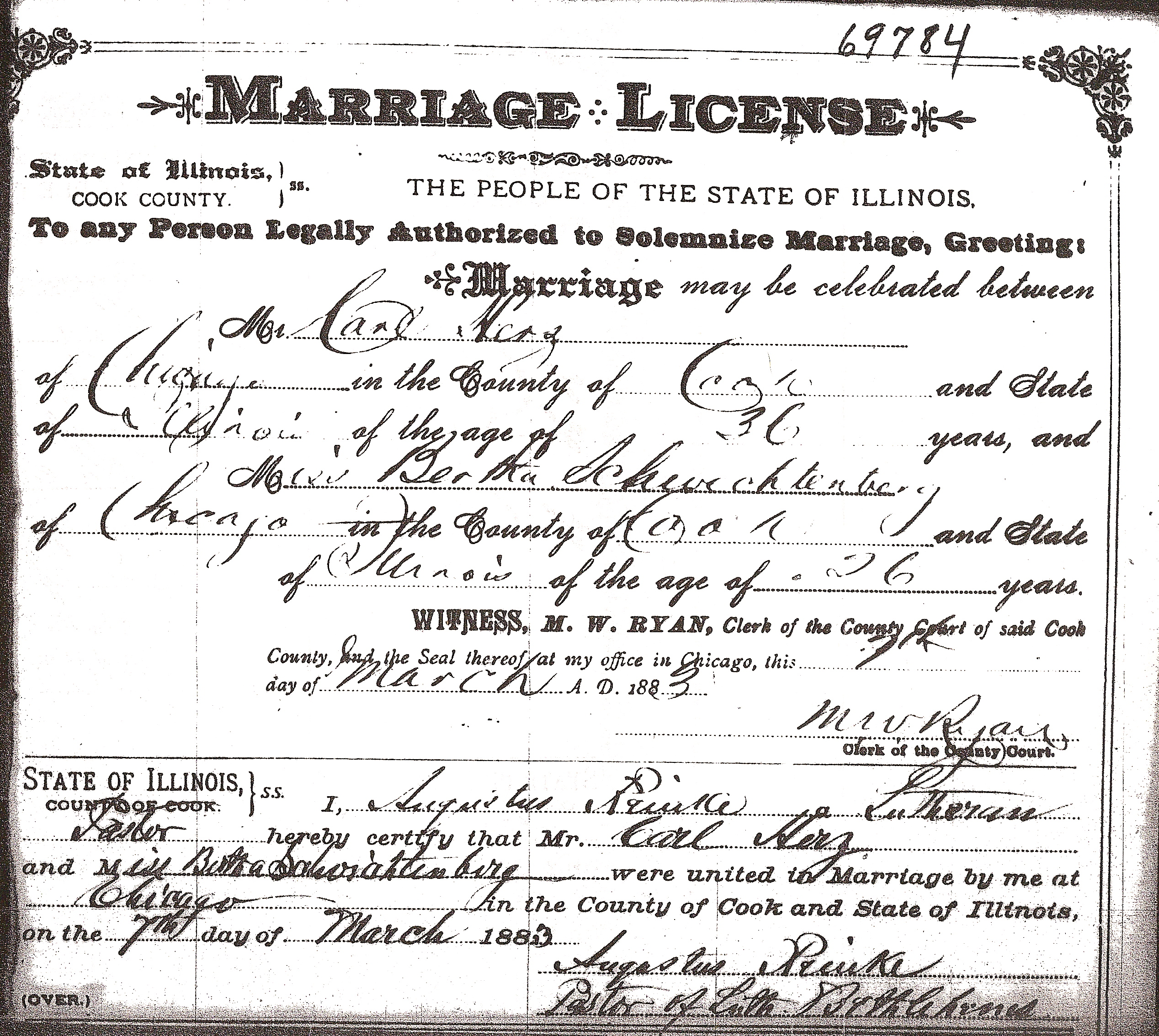 For Marriage Herz And Digging Bertha Schwichtenberg Of Ancestors Carl License