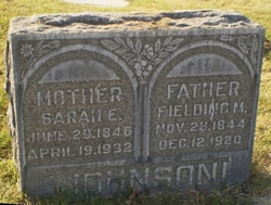 Fielding Monroe JOHNSON (1844~1920) Sarah Elizabeth BARR JOHNSON (1846~1932)