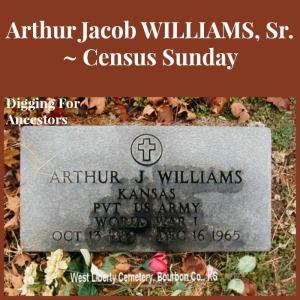 Arthur Jacob William Sr Census Sunday