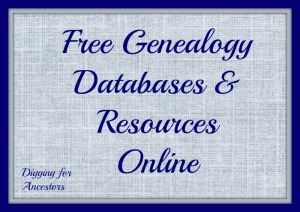 Free Genealogy Databases and Resources Online