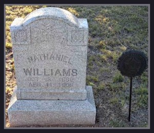 Nathaniel Williams Tombstone