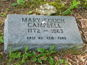 Mary Couch Campbell Tombstone